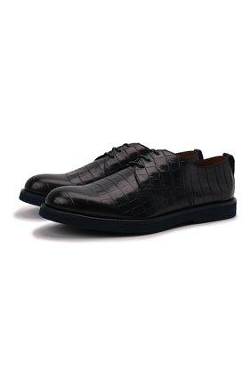 Мужские кожаные дерби  DOUCAL'S темно-синего цвета, арт. DU1268P0TEUZ023BB02   Фото 1
