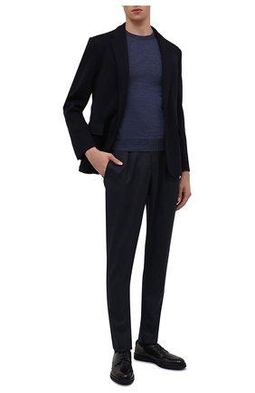 Мужские кожаные дерби  DOUCAL'S темно-синего цвета, арт. DU1268P0TEUZ023BB02   Фото 2
