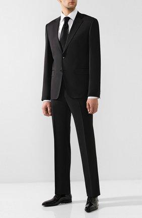 Мужские кожаные оксфорды CORNELIANI черного цвета, арт. 83HS00-9120910   Фото 2