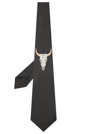 Мужской шелковый галстук RALPH LAUREN черного цвета, арт. 791742641 | Фото 2