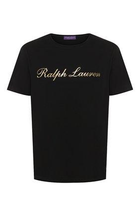 Мужская хлопковая футболка  RALPH LAUREN черного цвета, арт. 790702874 | Фото 1
