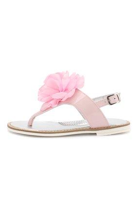 Детские кожаные сандалии MONNALISA розового цвета, арт. 8C3027 | Фото 2