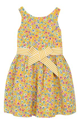 Хлопковое платье с поясом | Фото №1