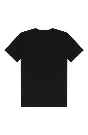 Детская хлопковая футболка GIVENCHY черного цвета, арт. H25094/6A-12A | Фото 2
