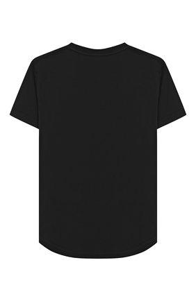 Детская хлопковая футболка DSQUARED2 черного цвета, арт. DQ02M8-D00MR | Фото 2