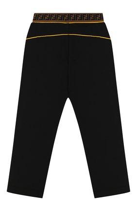 Детские хлопковые брюки FENDI черного цвета, арт. JMF170/5V0/6A-8A | Фото 2