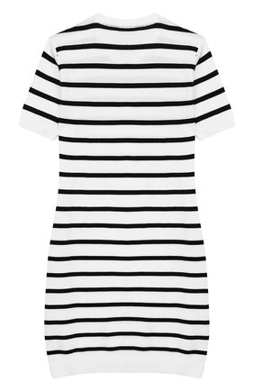 Детское хлопковое платье BALMAIN белого цвета, арт. 6K1081/KC630/4-10 | Фото 2