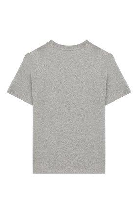 Детская хлопковая футболка POLO RALPH LAUREN серого цвета, арт. 323737839   Фото 2