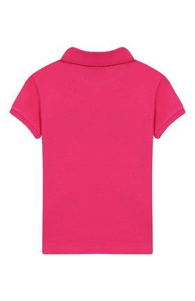 Детское хлопковое поло POLO RALPH LAUREN розового цвета, арт. 312735808 | Фото 2
