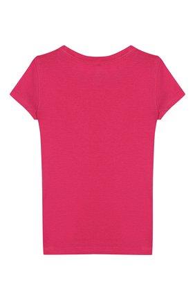 Детская хлопковая футболка POLO RALPH LAUREN розового цвета, арт. 311698703 | Фото 2