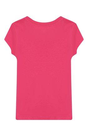 Детская хлопковая футболка POLO RALPH LAUREN розового цвета, арт. 313698703 | Фото 2