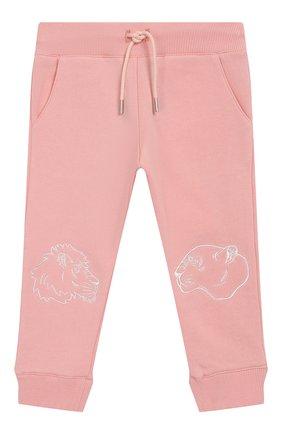 Детские хлопковые джоггеры KENZO розового цвета, арт. KN23017/6M-18M | Фото 1