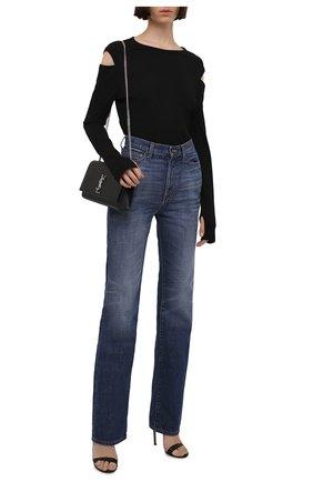 Женский хлопковый пуловер HELMUT LANG черного цвета, арт. I10HW515 | Фото 2