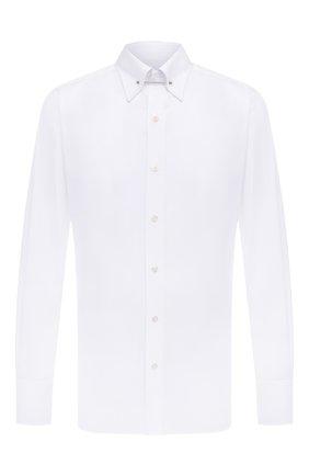 Мужская хлопковая сорочка TOM FORD белого цвета, арт. 5FT000/94S3JA | Фото 1