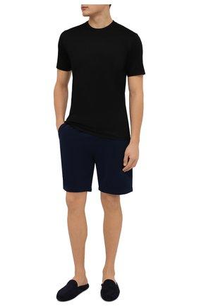 Мужские хлопковая футболка ZIMMERLI черного цвета, арт. 286-1447 | Фото 2