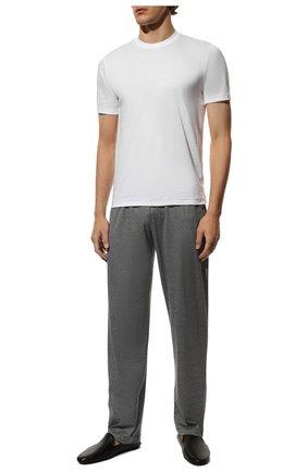 Мужская хлопковая футболка ZIMMERLI белого цвета, арт. 286-1447 | Фото 2 (Кросс-КТ: домашняя одежда; Рукава: Короткие; Длина (для топов): Стандартные; Материал внешний: Хлопок; Мужское Кросс-КТ: Футболка-белье; Статус проверки: Проверена категория)