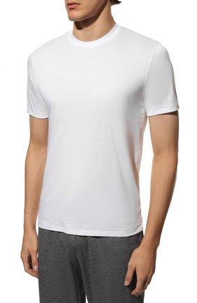 Мужская хлопковая футболка ZIMMERLI белого цвета, арт. 286-1447 | Фото 3 (Кросс-КТ: домашняя одежда; Рукава: Короткие; Длина (для топов): Стандартные; Материал внешний: Хлопок; Мужское Кросс-КТ: Футболка-белье; Статус проверки: Проверена категория)