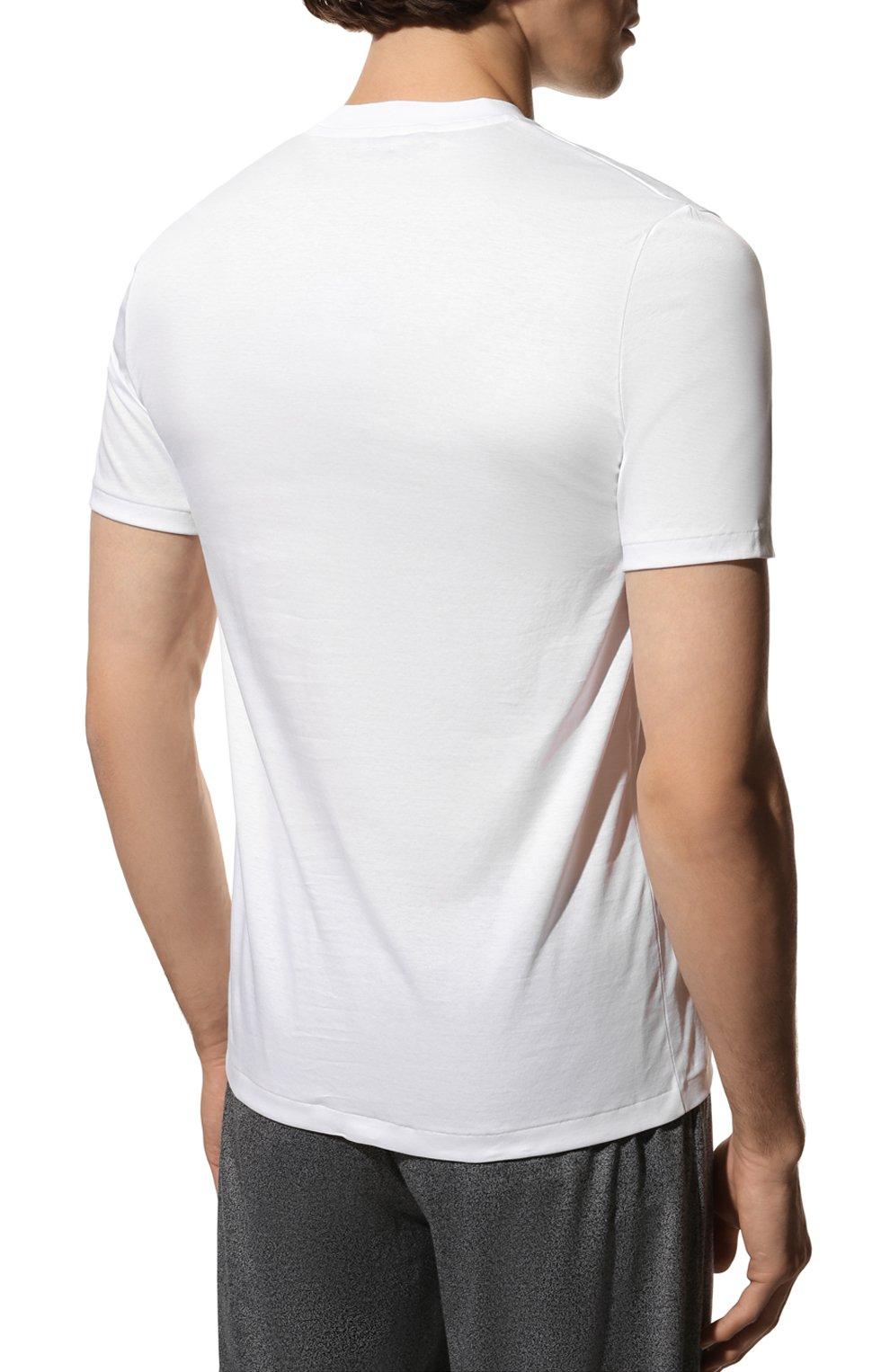 Мужская хлопковая футболка ZIMMERLI белого цвета, арт. 286-1447 | Фото 4 (Кросс-КТ: домашняя одежда; Рукава: Короткие; Длина (для топов): Стандартные; Материал внешний: Хлопок; Мужское Кросс-КТ: Футболка-белье; Статус проверки: Проверена категория)