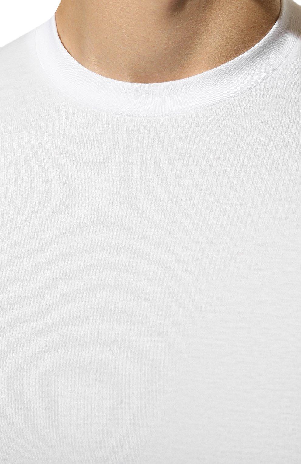 Мужская хлопковая футболка ZIMMERLI белого цвета, арт. 286-1447 | Фото 5 (Кросс-КТ: домашняя одежда; Рукава: Короткие; Длина (для топов): Стандартные; Материал внешний: Хлопок; Мужское Кросс-КТ: Футболка-белье; Статус проверки: Проверена категория)