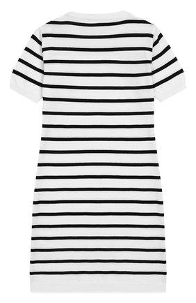 Детское хлопковое платье BALMAIN белого цвета, арт. 6K1081/KC630/12-16 | Фото 2