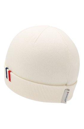 Детского хлопковая шапка MONCLER ENFANT белого цвета, арт. E1-951-99222-00-V9005 | Фото 2