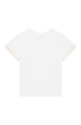Детский хлопковая футболка TARTINE ET CHOCOLAT белого цвета, арт. TN10101/6M-18M   Фото 2