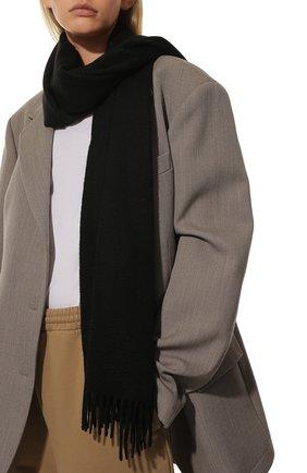 Женский кашемировый шарф grande unita LORO PIANA черного цвета, арт. FAA1056 | Фото 2 (Материал: Кашемир, Шерсть; Статус проверки: Проверена категория)