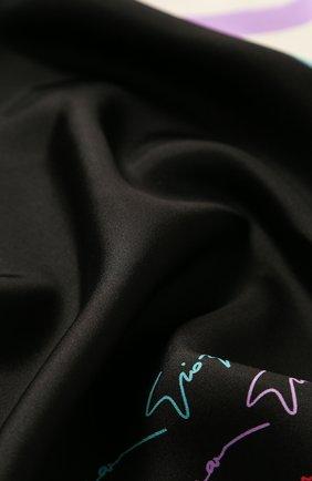 Женский шелковый платок GIORGIO ARMANI разноцветного цвета, арт. 795309/8A117 | Фото 2