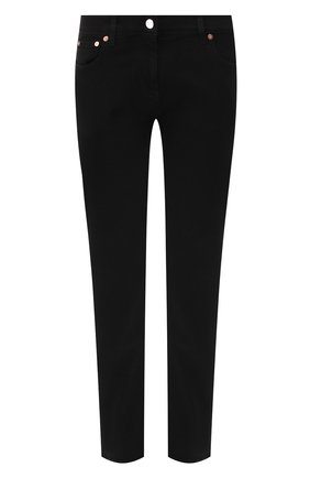 Женские джинсы прямого кроя VALENTINO черного цвета, арт. RB3DD07H45M   Фото 1