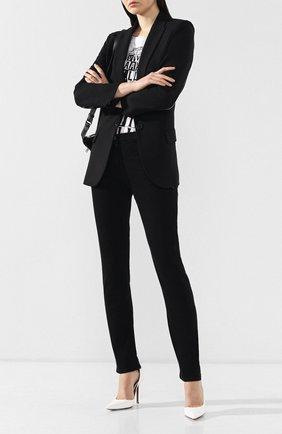 Женские джинсы прямого кроя VALENTINO черного цвета, арт. RB3DD07H45M   Фото 2