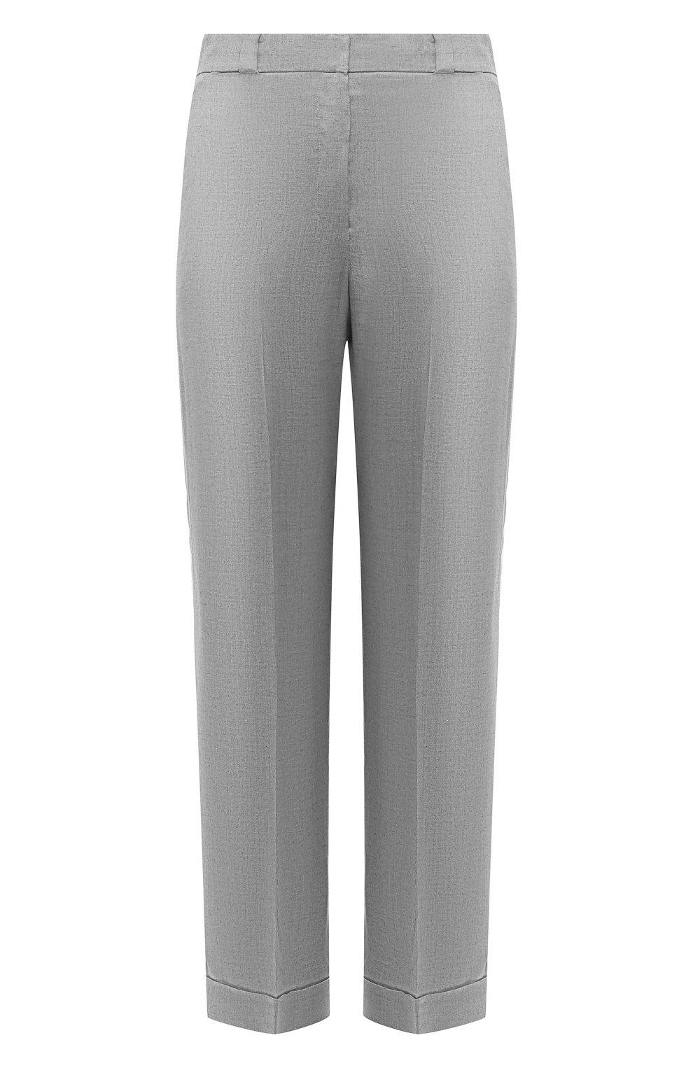 6e7acad1afa1 Женские серые брюки из смеси вискозы и шелка THEORY — купить за ...