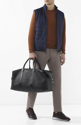 Мужская кожаная дорожная сумка TOM FORD черного цвета, арт. H0378P-CP5 | Фото 2