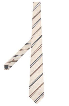 Мужской галстук из смеси хлопка и льна BRUNELLO CUCINELLI светло-бежевого цвета, арт. MQ8000039   Фото 2