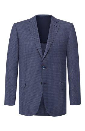 Мужской шерстяной пиджак BRIONI синего цвета, арт. RG0J0Q/P8A72/BRUNIC0 | Фото 1