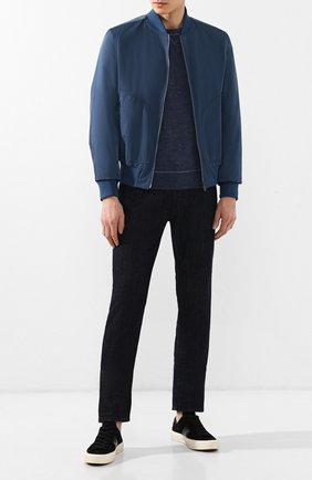 Мужские джинсы прямого кроя GIORGIO ARMANI синего цвета, арт. 3GSJ15/SD30Z | Фото 2
