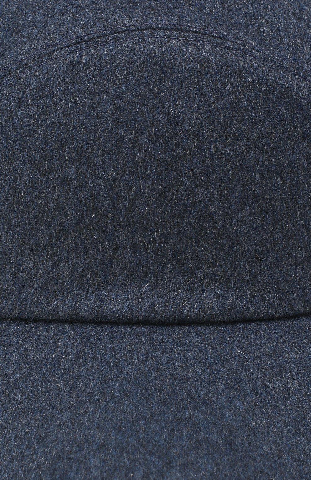 Мужской кашемировая бейсболка LORO PIANA темно-синего цвета, арт. FAG4762 | Фото 3