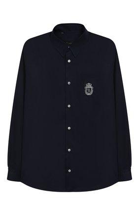 Детская хлопковая рубашка BILLIONAIRE синего цвета, арт. B19C BRP0067 BTE044N/12-16 | Фото 1