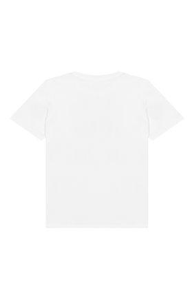 Детский хлопковая футболка KENZO белого цвета, арт. KN10738-BB/6M-18M | Фото 2