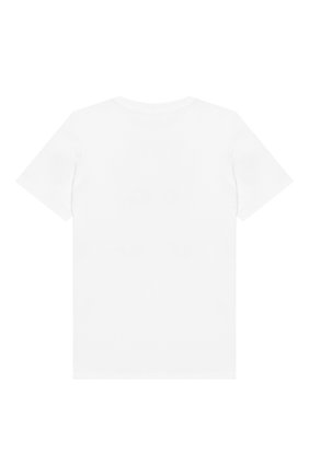 Детский хлопковая футболка KENZO белого цвета, арт. KN10738/8A-12A | Фото 2