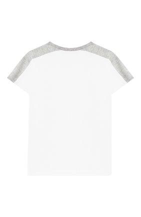 Детский хлопковая футболка KENZO белого цвета, арт. KN10628-BB/6M-18M | Фото 2