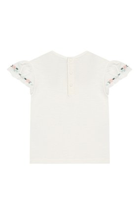 Детский хлопковая футболка TARTINE ET CHOCOLAT белого цвета, арт. TN10021/2A-3A | Фото 2