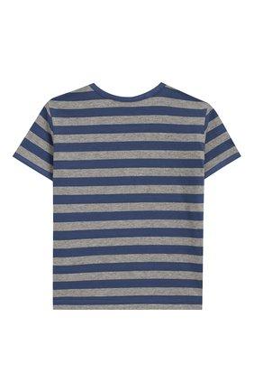 Детский хлопковая футболка TARTINE ET CHOCOLAT синего цвета, арт. TN10041/4A-6A | Фото 2