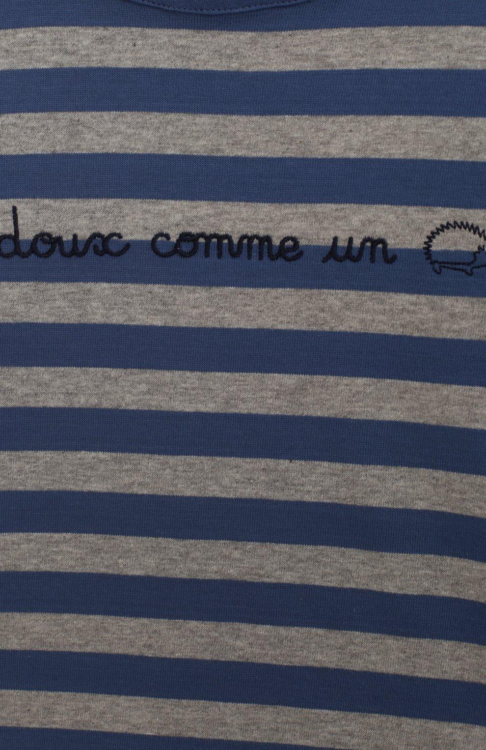 Детский хлопковая футболка TARTINE ET CHOCOLAT синего цвета, арт. TN10041/4A-6A | Фото 3