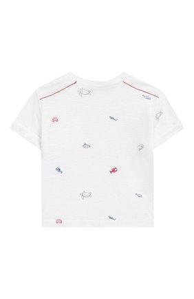 Детский футболка из смеси хлопка и льна TARTINE ET CHOCOLAT белого цвета, арт. TN10051/6M-18M | Фото 2 (Материал внешний: Лен, Хлопок; Рукава: Короткие; Статус проверки: Проверено)