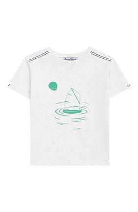 Детский хлопковая футболка TARTINE ET CHOCOLAT белого цвета, арт. TN10061/4A-6A | Фото 1
