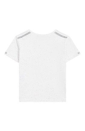 Детский хлопковая футболка TARTINE ET CHOCOLAT белого цвета, арт. TN10061/4A-6A | Фото 2