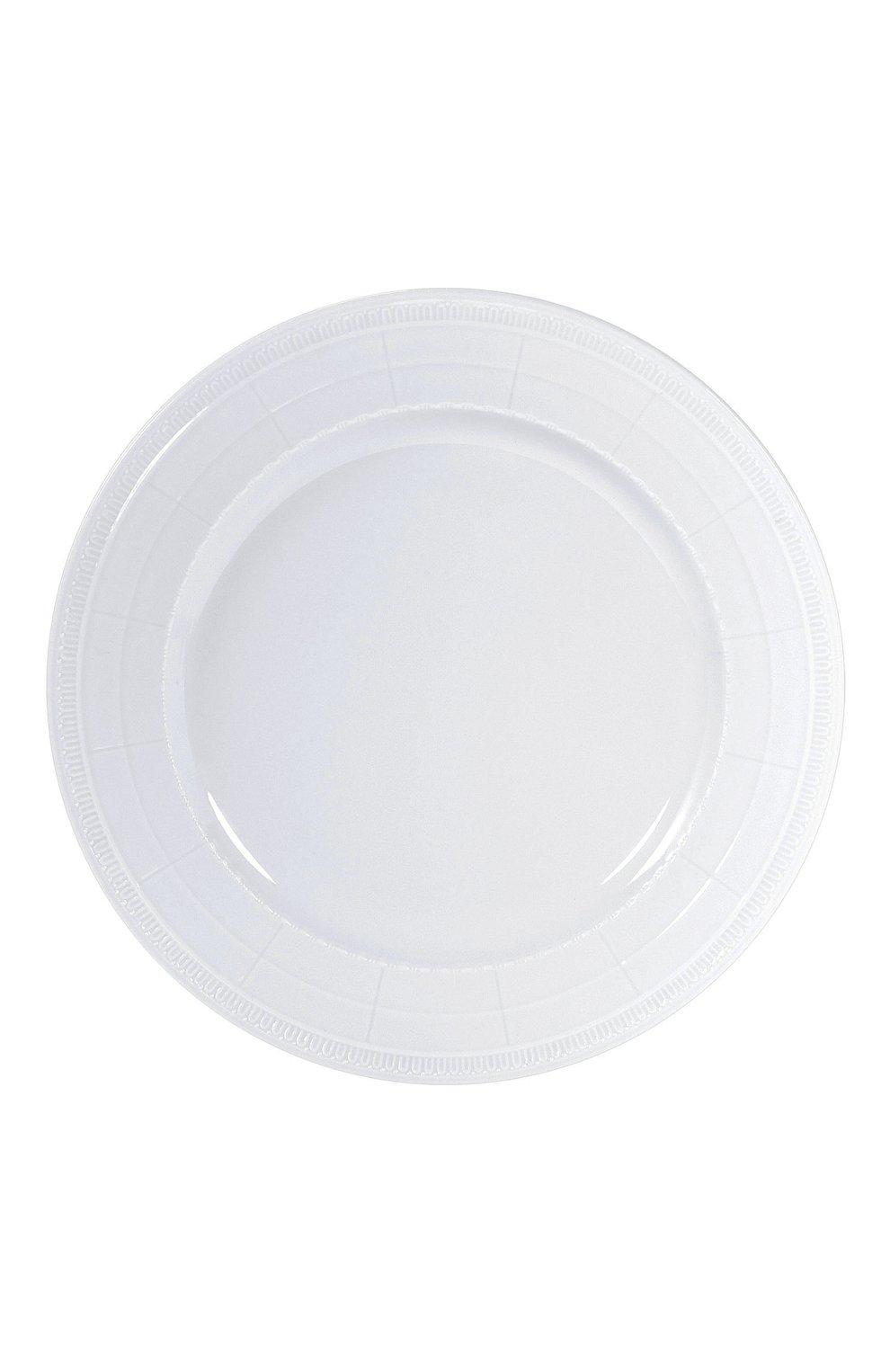 Мужского тарелка сервировочная louvre BERNARDAUD белого цвета, арт. 0542/7 | Фото 1