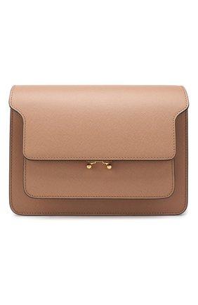 Женская сумка trunk MARNI светло-коричневого цвета, арт. SBMPN09N01/LV520 | Фото 1