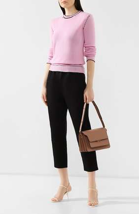 Женская сумка trunk MARNI светло-коричневого цвета, арт. SBMPN09N01/LV520 | Фото 2