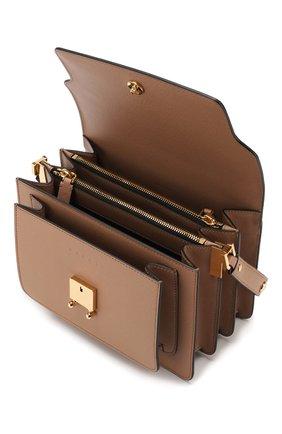 Женская сумка trunk MARNI светло-коричневого цвета, арт. SBMPN09N01/LV520 | Фото 4